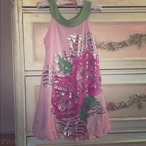 Little Mass Girls Pink sleeveless dress